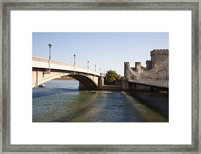 Telford Suspension Bridge Framed Print by Christopher Rowlands