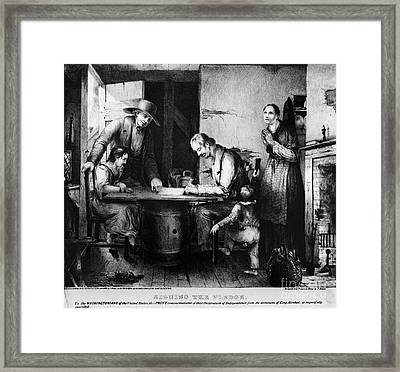Temperance Movement Signing The Pledge Framed Print by Photo Researchers