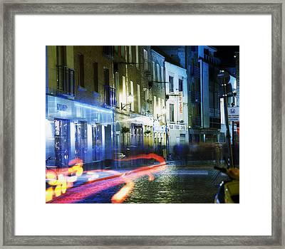 Temple Bar, Dublin, Co Dublin, Ireland Framed Print