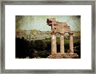 Temple Of Castor And Pollux Framed Print