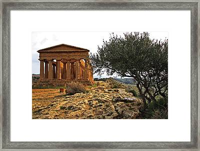 Temple Of Concordia Framed Print by Steve Bisgrove