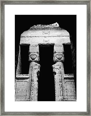 Temple Of Hathor Framed Print