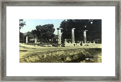 Temple Of Zeus, Olympia, Greece Framed Print by Photo Researchers