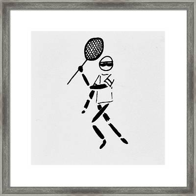 Tennis Guy Framed Print by Robin Lewis