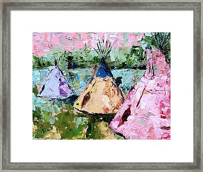 Tepees Times Three Framed Print
