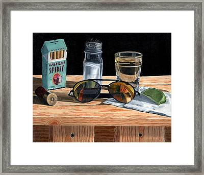 Tequila With Lime No. 3 Framed Print