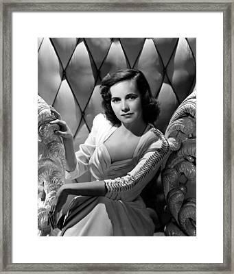 Teresa Wright, Ca. Early 1940s Framed Print by Everett