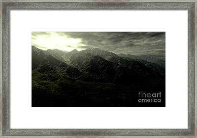 Terragen Render Of Mt. Whitney Framed Print