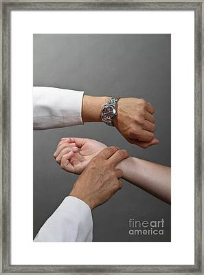 Testing Pulse Framed Print by Photo Researchers, Inc.