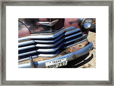 Texas Framed Print by Chuck Re