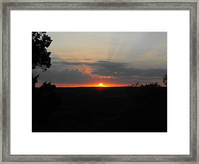 Texas Sunset Framed Print by Rebecca Cearley