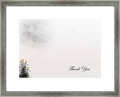 Thank You #4 Framed Print