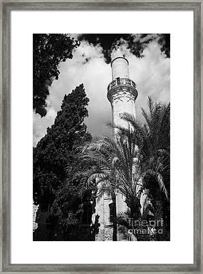 The 16th Century Grand Mosque Or Djami Kebir In Larnaca Republic Of Cyprus Framed Print by Joe Fox