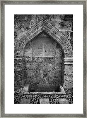 The Ali Ruhi Fountain Of Kucuk Medrese In Nicosia Trnc Turkish Republic Of Northern Cyprus Framed Print by Joe Fox