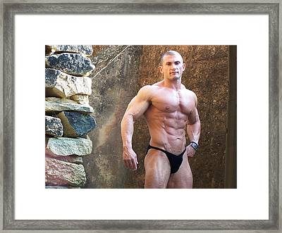 the Art of Muscle  Lou Astri Framed Print by Jake Hartz