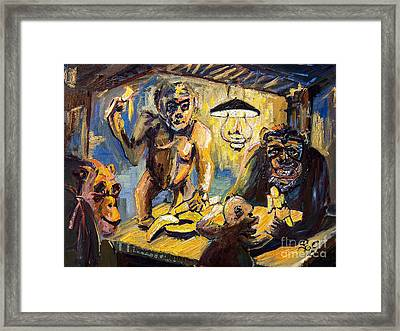 The Banana Eaters Framed Print by Ginette Callaway