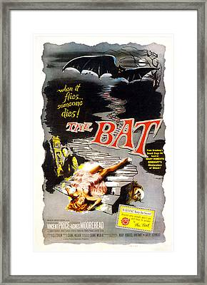 The Bat, Vincent Price, 1959 Framed Print