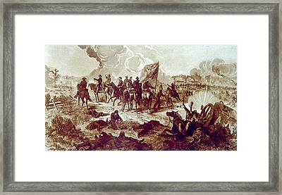 The Battle Of Chickamauga, September Framed Print by Everett