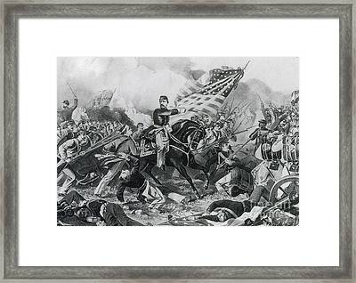 The Battle Of Williamsburg, 1862 Framed Print by Photo Researchers