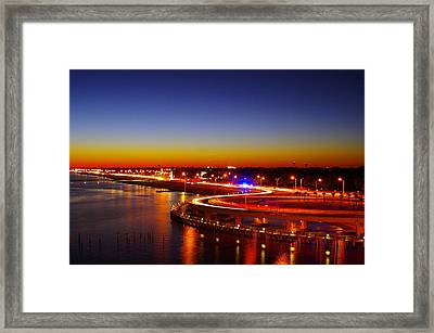 Framed Print featuring the photograph The Beauty Of The Night by Brian Wright