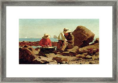 The Boat Builders Framed Print