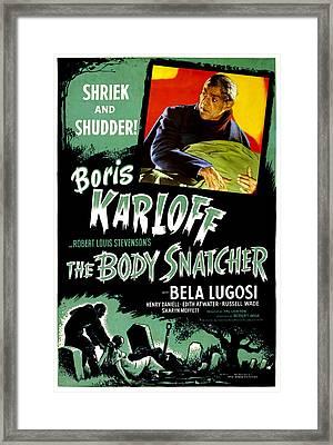 The Body Snatcher, Boris Karloff, 1945 Framed Print