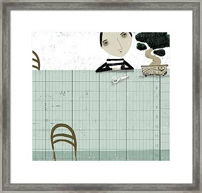 The Bonsai Pruner Framed Print