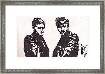 Framed Print featuring the drawing The Boondock Saints by Jeremiah Colley