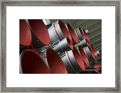 The Boosters Of The Soyuz Tma-14 Framed Print by Stocktrek Images