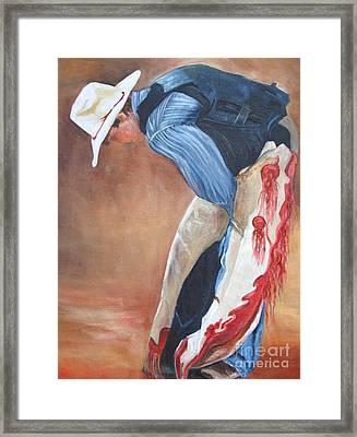 The Bull Rider Framed Print by Barbara Haviland