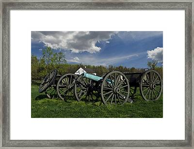 The Cannon And Limber  Framed Print by Lawrence Ott