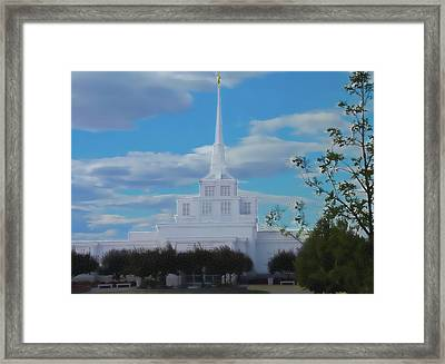 The Church Framed Print by Darrel Froman