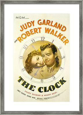 The Clock, Judy Garland, Robert Walker Framed Print by Everett