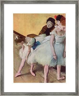The Dancing Class Framed Print by Edgar Degas