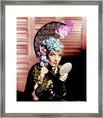 The Devil Is A Woman, Marlene Dietrich Framed Print