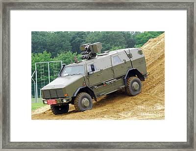 The Dingo 2 Mppv Of The Belgian Army Framed Print by Luc De Jaeger