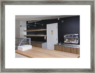 The Dining Area Of The New Buildings Framed Print by Jaak Nilson