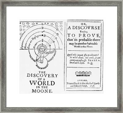 The Discovery Of A World In The Moone Framed Print