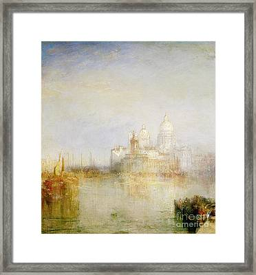 The Dogana And Santa Maria Della Salute Venice Framed Print