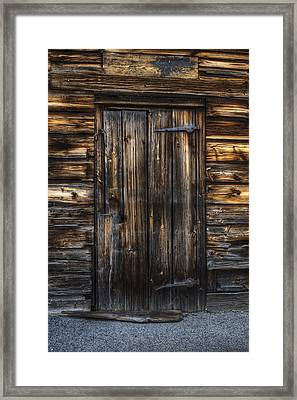 The Door Framed Print by Nick  Shirghio