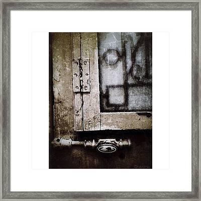 The Door Of Belcourt Framed Print