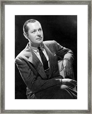 The Earl Of Chicago, Robert Montgomery Framed Print