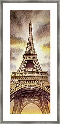 The Eiffel Tower  Framed Print by Irina Sztukowski