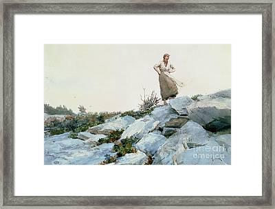 The Faggot Gatherer Framed Print by Winslow Homer