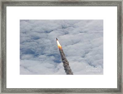 The Final Launch Of Space Shuttle Framed Print