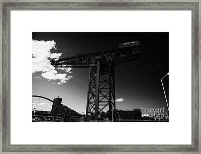 the Finnieston Crane in Glasgow Scotland UK Framed Print by Joe Fox
