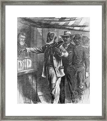 The First Vote, 1867 Framed Print
