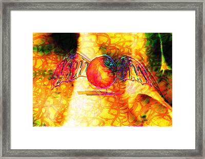 The Flying Fruit Bat Framed Print
