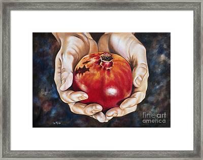 The Fruit Of Jesus' Sacrifice II Framed Print by Ilse Kleyn