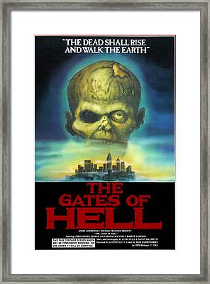 The Gates Of Hell, Aka Paura Nella Framed Print by Everett